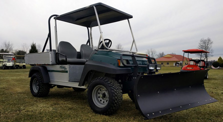 Golf Cart Snow Plows