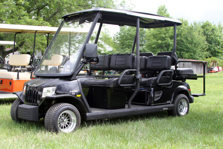 Golf Carts in Dublin and Doylestown - Hilltown Services on black trailer, black tv, black toy hauler, black bus,