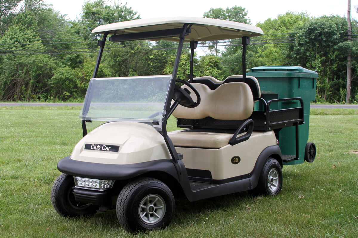 Club Car Precedent w/ Trash Can Transporter - Hilltown Services Club Car Golf Cart Parts Catalogs on club car accessories catalog, club car transporter 4, club car parts catalog, club car precedent rain enclosure, golf cart accessories catalog, ez go accessories catalog, club car lift kit 2, yamaha golf cart parts catalog,